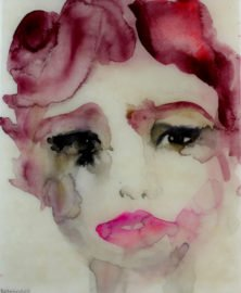 Thirty-five | ink and watercolor covered in resin | 9″ X 11″ | 2014