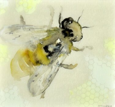 Bee with Honeycomb I