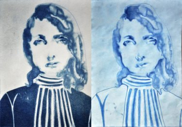 Diptych in Blue
